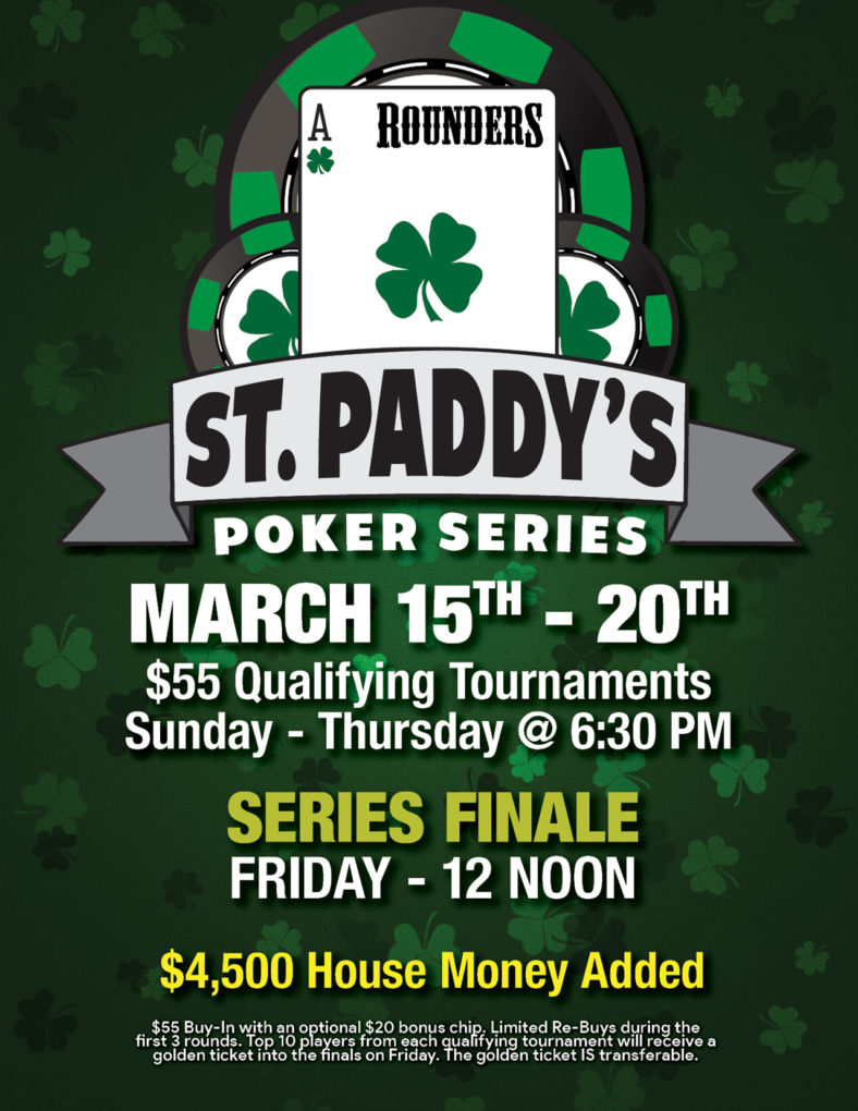 St. Paddy's Picker Series, March 15-20