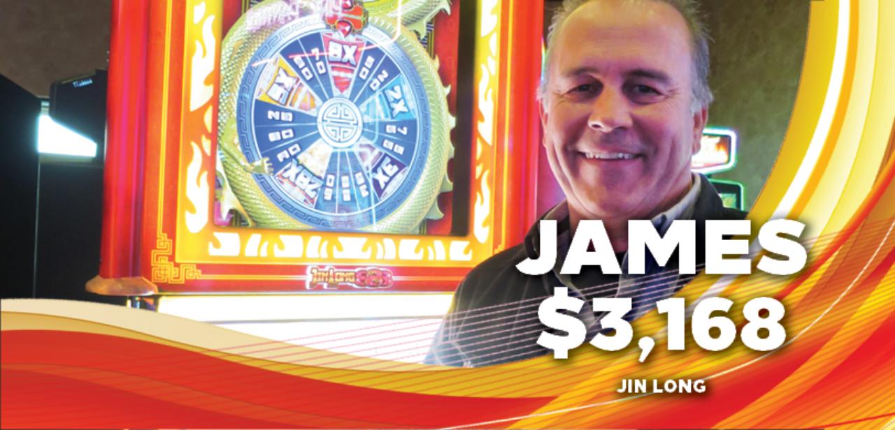 James, $3,168 winner