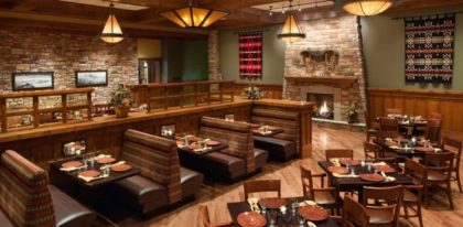 Deadwood Grille restaurant, tables and booths