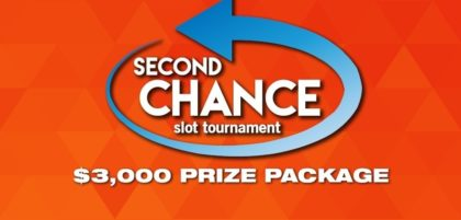 $3,000 prize package at second chance slot tournament