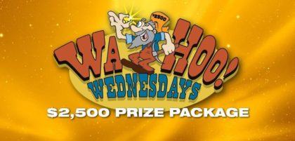 $2,500 prize package on Wahoo Wednesdays